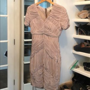 Burberry taupe ruffled dress